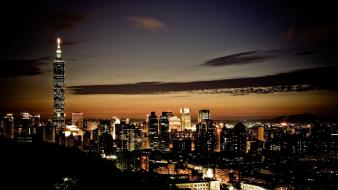 Cityscapes night taiwan city lights taipei citylights wallpaper