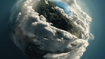 Clouds earth wallpaper
