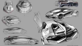 Design lamborghini sketches concept art wallpaper