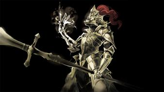 Digital art armored suit dark souls ornstein wallpaper