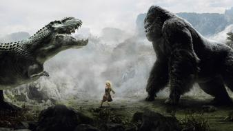 Dinosaurs king kong artwork gorila wallpaper