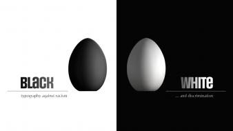Eggs typography balance racism human rights equality wallpaper