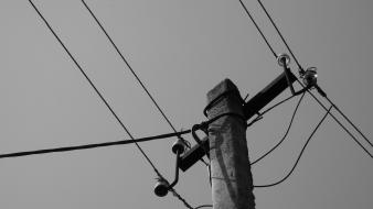 Electricity monochrome wallpaper