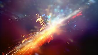 Explosions particles colors wallpaper
