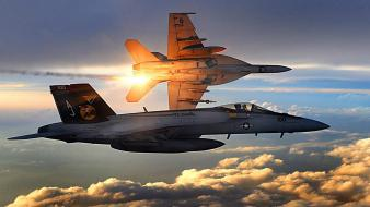 F-18 hornet fighter jets Wallpaper