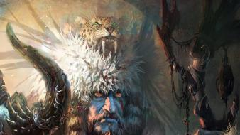Fantasy art artwork shaman Wallpaper