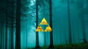 Forests triforce the legend of zelda triangles wallpaper