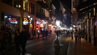 French quarter mardi gras night shot wallpaper