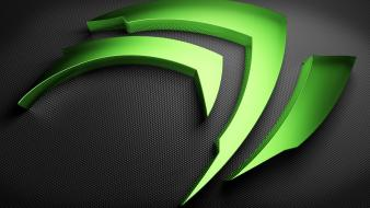 Green gray nvidia shape logos claws wallpaper