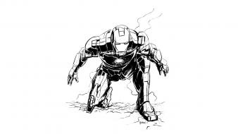 Iron man comics armored suit wallpaper