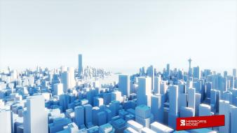 Light steam minimalistic mirrors edge cubes cities ea Wallpaper