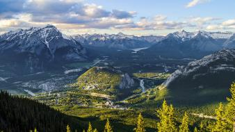 Mountains landscapes nature canada alberta wallpaper
