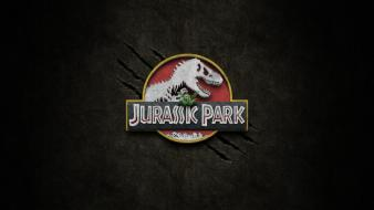 Movies dinosaurs jurassic park logos wallpaper