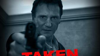 Movies monochrome liam neeson movie posters taken (movie) wallpaper