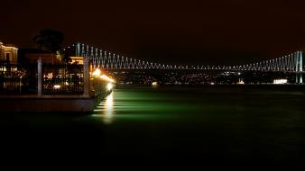 Night lights bridges turkey istanbul bosphorus bridge wallpaper