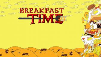 Oranges toast adventure time pancakes breakfast fork wallpaper