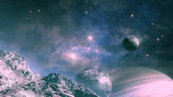 Outer space fantasy art artwork Wallpaper