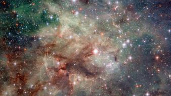 Outer space galaxies nebulae wallpaper