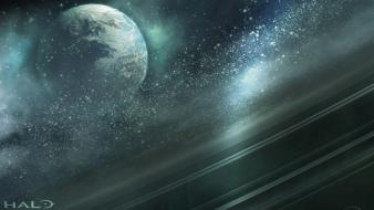 Outer space planets halo reach wallpaper