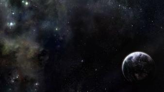 Outer space stars planets art wallpaper