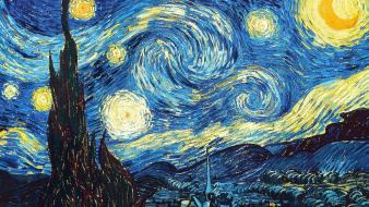 Paintings van gogh starry night wallpaper