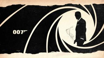 Paper guns smoke silhouette james bond skyfall wallpaper