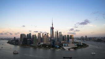 Skylines shanghai cities Wallpaper