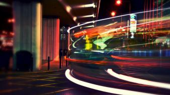 Streets lights traffic city long exposure cities Wallpaper