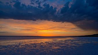 Sunset landscapes usa utah great salt lake wallpaper