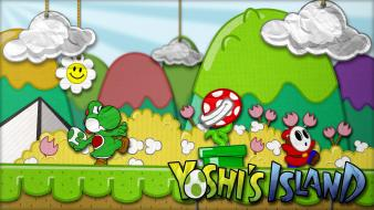 Super mario yoshi shy guy piranha plant wallpaper