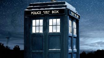 Tardis doctor who snowing Wallpaper