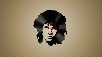 The doors vinyl jim morrison wallpaper