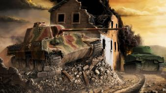 Video games ruins tanks artwork world of wallpaper