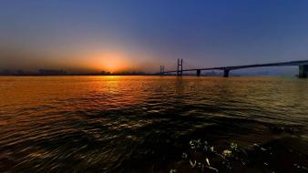 Water sunset landscapes nature china wallpaper