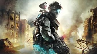 Weapons destroyed battles ghost recon cities game wallpaper