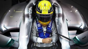 Winter barcelona formula one lewis hamilton mercedes-benz Wallpaper