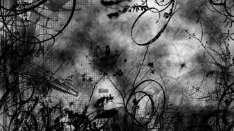 Abstract black white photo manipulation Wallpaper