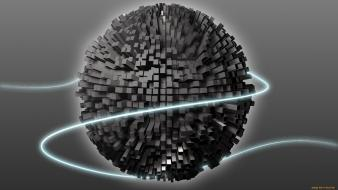 Abstract cubes spheres Wallpaper