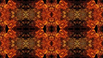 Abstract orange fractals patterns textures psychedelic Wallpaper