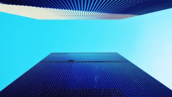 Architecture buildings blue skies wallpaper