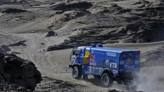 Cars desert trucks paths dust rally dakar kamaz wallpaper