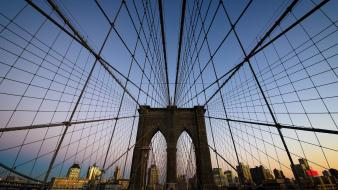 Cityscapes architecture urban brooklyn bridge web ny wallpaper