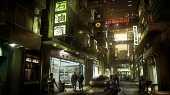 Cityscapes asians digital art science fiction artwork nightlife wallpaper