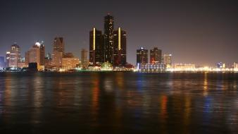 Cityscapes detroit skyline wallpaper