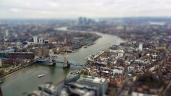 Cityscapes london tilt-shift thames wallpaper