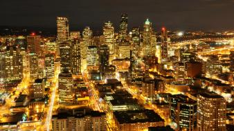 Cityscapes night citylights wallpaper