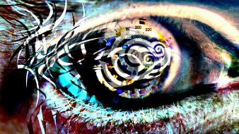 Creepy abstract eyes wallpaper