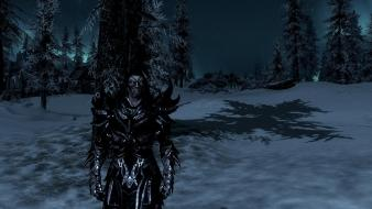 Elf the elder scrolls v: skyrim daedric wallpaper