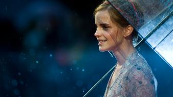 Emma watson in the rain wallpaper