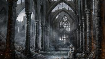 Fantasy art abandoned sanctuary pathfinder wallpaper